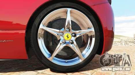 GTA 5 Ferrari 458 Italia v2.0 [add-on] hinten rechts