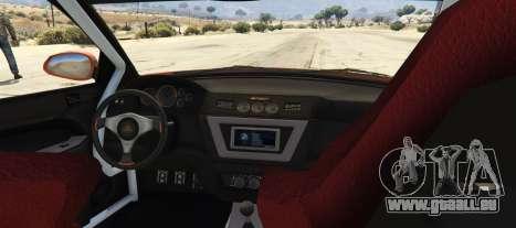 GTA 5 Maibatsu Revolution SG-RX (Tuners and Outlaws) arrière vue latérale gauche