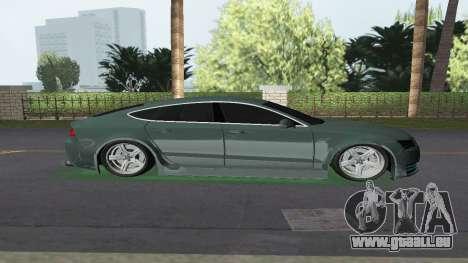 Audi A7 Sportback pour une vue GTA Vice City de la gauche