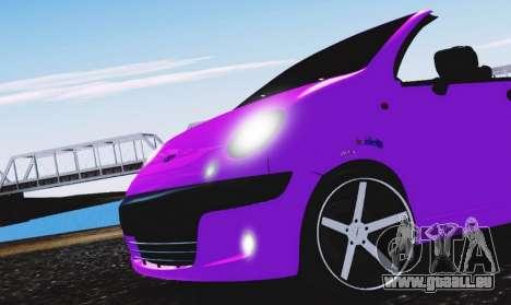 Daewoo Matiz pour GTA San Andreas vue de droite