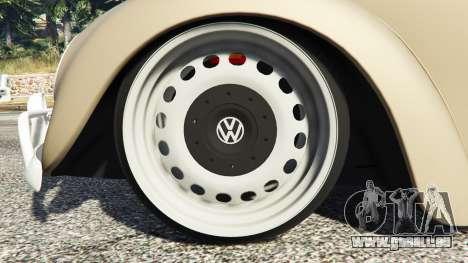 GTA 5 Volkswagen Fusca 1968 v0.8 [replace] rechte Seitenansicht