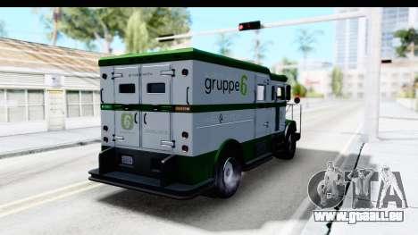 GTA 5 Stockade v1 pour GTA San Andreas laissé vue
