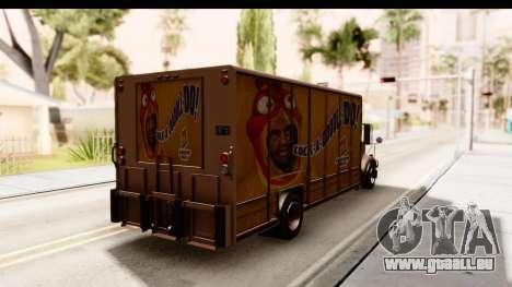 GTA 4 Vapid Benson pour GTA San Andreas sur la vue arrière gauche