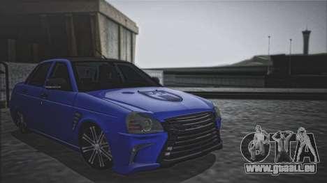 Lada Priora Lexus Amg pour GTA San Andreas