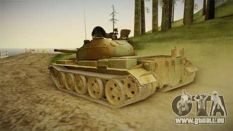 T-62 Desert Camo v2 pour GTA San Andreas laissé vue