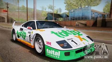 Ferrari F40 (US-Spec) 1989 HQLM für GTA San Andreas Seitenansicht