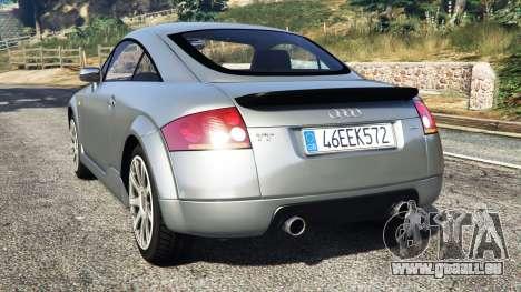 GTA 5 Audi TT (8N) 2004 [replace] arrière vue latérale gauche