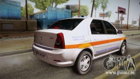 Dacia Logan Facelift Ambulanta v3 pour GTA San Andreas laissé vue