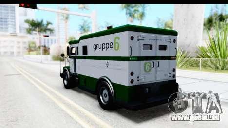 GTA 5 Stockade v1 pour GTA San Andreas sur la vue arrière gauche