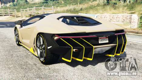GTA 5 Lamborghini Centenario LP770-4 2017 [replace] hinten links Seitenansicht