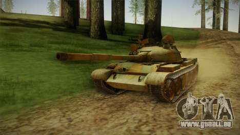 T-62 Desert Camo v2 pour GTA San Andreas sur la vue arrière gauche