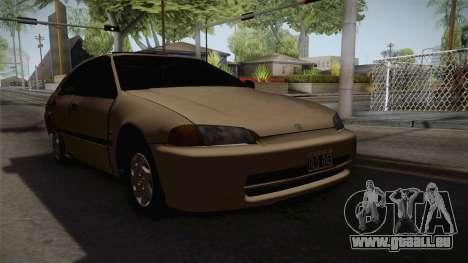 Honda Civic Sedan EX 1993 pour GTA San Andreas vue de droite