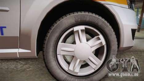 Dacia Logan Facelift Ambulanta v3 pour GTA San Andreas sur la vue arrière gauche