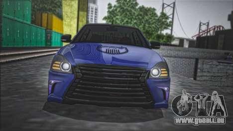 Lada Priora Lexus Amg pour GTA San Andreas sur la vue arrière gauche