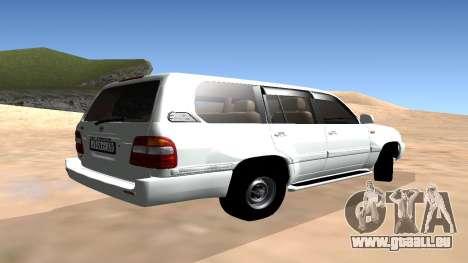 Toyota Land Cruiser 100 pour GTA San Andreas laissé vue