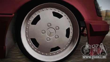 Mercedes-Benz E500 German Style für GTA San Andreas zurück linke Ansicht