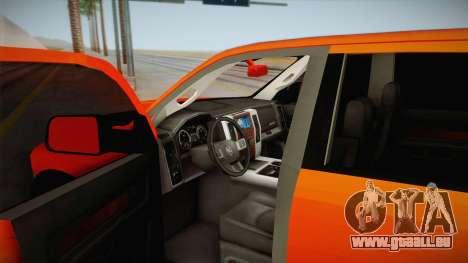 Dodge Ram 2500 Lifted Edition für GTA San Andreas Innenansicht