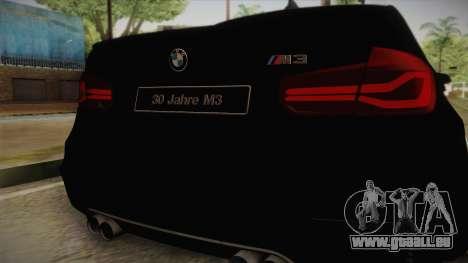 BMW M3 F30 pour GTA San Andreas vue de droite