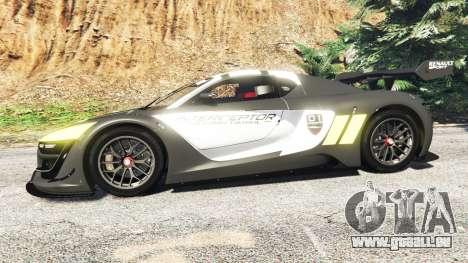 GTA 5 Renault Sport RS 01 2014 Police Interceptor [a] linke Seitenansicht