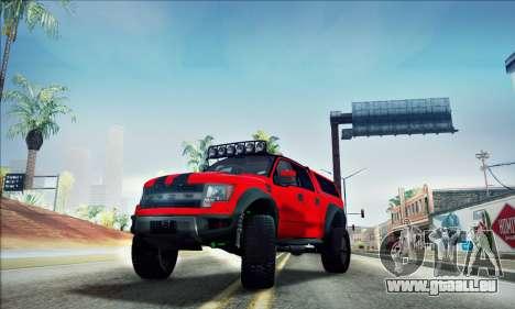 Ford F150 Raptor Long V12 pour GTA San Andreas vue de côté