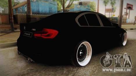 BMW M3 F30 pour GTA San Andreas laissé vue