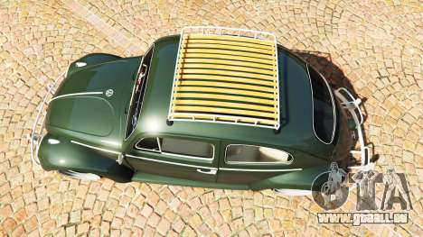 GTA 5 Volkswagen Fusca 1968 v1.0 [replace] Rückansicht