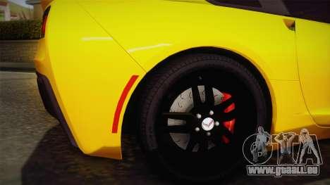 Chevrolet Corvette Stingray 2015 pour GTA San Andreas vue arrière