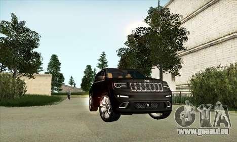 Jeep Cherokee SRT 8 pour GTA San Andreas laissé vue