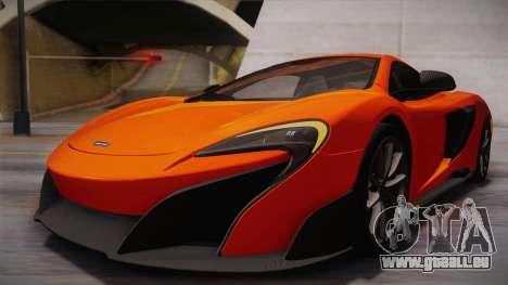 McLaren 675LT 2015 10-Spoke Wheels für GTA San Andreas obere Ansicht