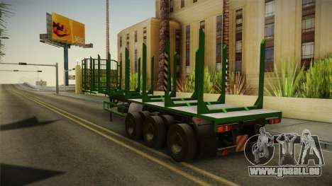 MAZ 99864 Trailer v2 für GTA San Andreas zurück linke Ansicht