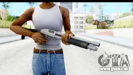 Tactical Mossberg 590A1 Chrome v4 pour GTA San Andreas troisième écran