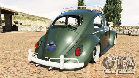 GTA 5 Volkswagen Fusca 1968 v1.0 [replace] hinten links Seitenansicht