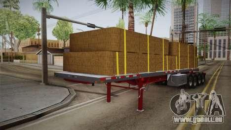 Trailer Americanos v2 pour GTA San Andreas sur la vue arrière gauche
