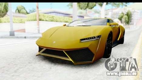 GTA 5 Pegassi Reaper IVF für GTA San Andreas zurück linke Ansicht