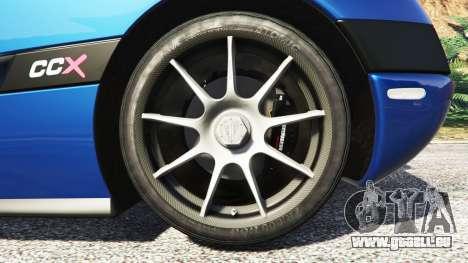GTA 5 Koenigsegg CCX 2006 [Autovista] v2.0 [replace] arrière droit vue de côté
