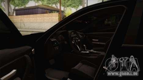 BMW M3 F30 pour GTA San Andreas vue intérieure