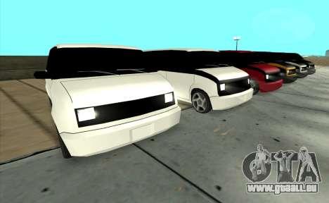Moonbeam Kaef pour GTA San Andreas sur la vue arrière gauche