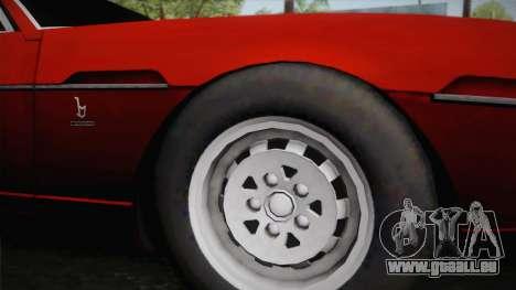 Lamborghini Espada S3 39 1972 pour GTA San Andreas sur la vue arrière gauche