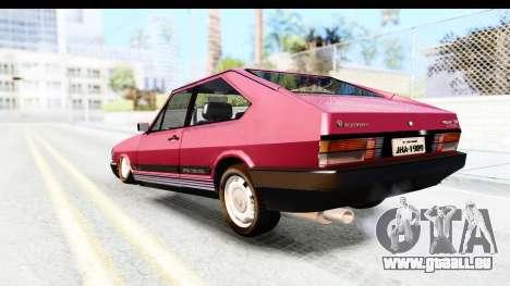 Volkswagen Passat Pointer GTS 1.8 1988 für GTA San Andreas linke Ansicht