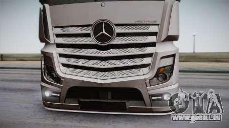 Mercedes-Benz Actros Mp4 6x2 v2.0 Steamspace für GTA San Andreas Rückansicht