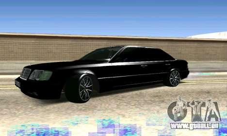 Mercedes-Benz E500 W124 für GTA San Andreas Rückansicht