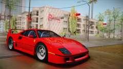 Ferrari F40 (US-Spec) 1989 HQLM pour GTA San Andreas