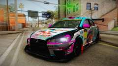 Mitsubishi Lancer Evolution X 2008 Racing Miku für GTA San Andreas
