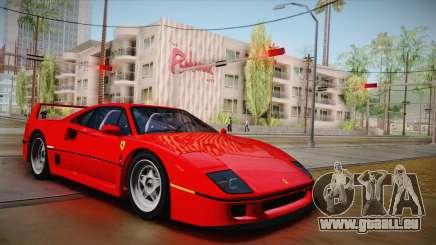Ferrari F40 (US-Spec) 1989 HQLM für GTA San Andreas