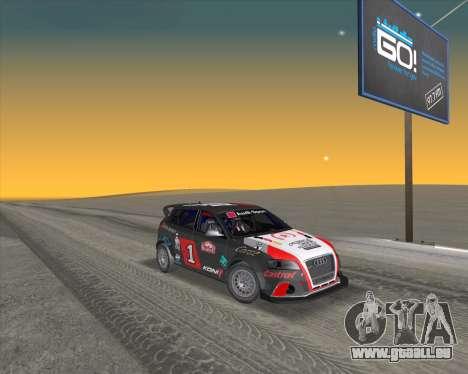 Audi RS3 Sportback Rally WRC pour GTA San Andreas vue de côté