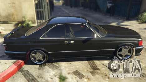 GTA 5 Mercedez-Benz 560 SEC linke Seitenansicht