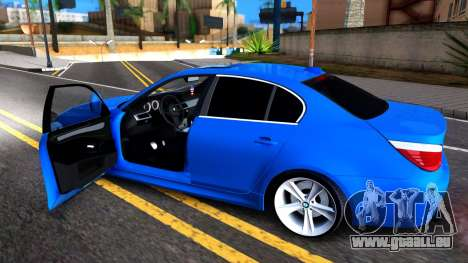 BMW E60 520D M Technique für GTA San Andreas Rückansicht