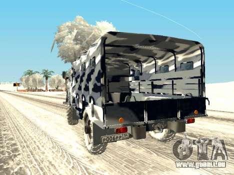 GAZ-66 pour GTA San Andreas laissé vue