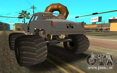 Volga GAZ21 pour GTA San Andreas laissé vue