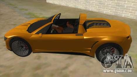 GTA V Dynka Jester Spider für GTA San Andreas linke Ansicht